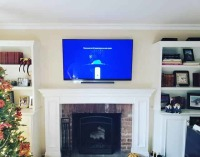 fireplace tv mount