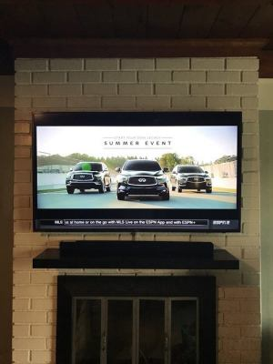 TV mount install on brick in long beach